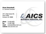 AICS Business Solutions Business Card