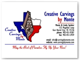 Creative Carvings by Monte Business Card