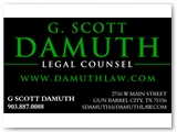 Damuth Law Business Card