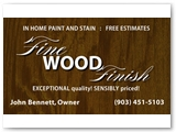 Fine Wood Finish Business Card