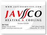 Javco Services Business Card