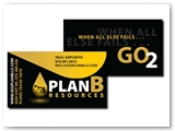 Plan B Resouces Business Card