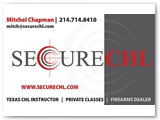 Secure CHL Business Card