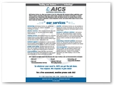 AICS Business Solutions Mailable Double Sided Tri-Fold Brochure