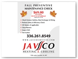 Javco Services Fall Specials Brochure