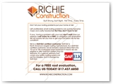 Richie Construction Mailable Double Sided Tri-Fold Brochure