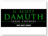 Damuth Law 4 X 10 foot Building Sign