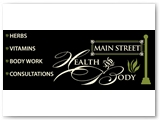 Main Street Health & Body 4 X 10 foot Building Sign